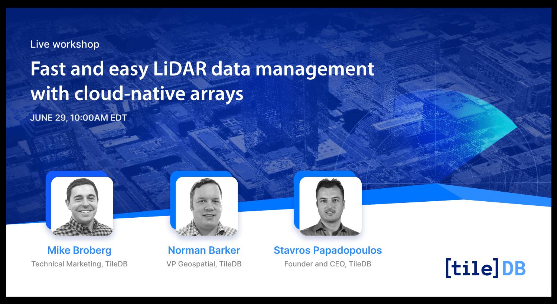 TileDB LiDAR workshop