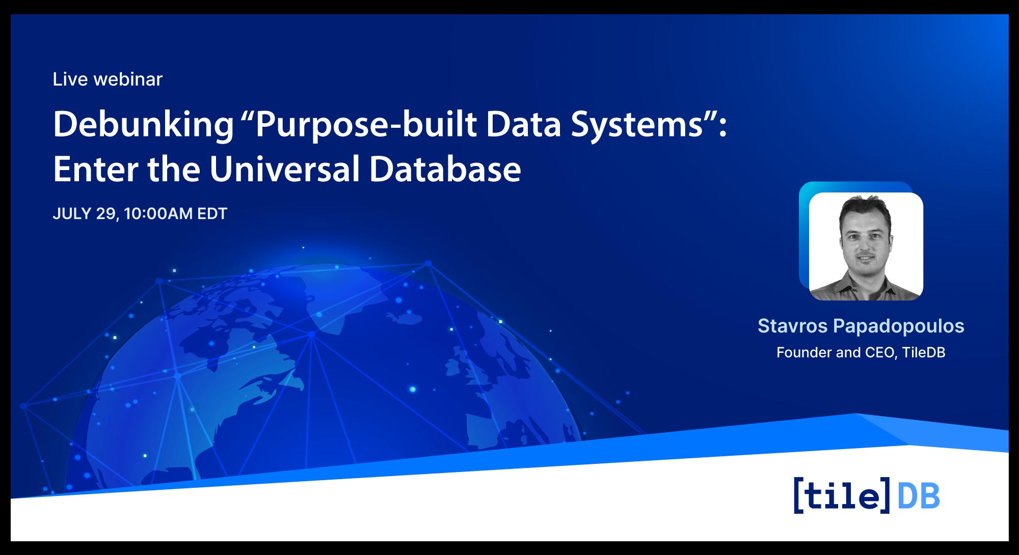 TileDB Universal Database webinar
